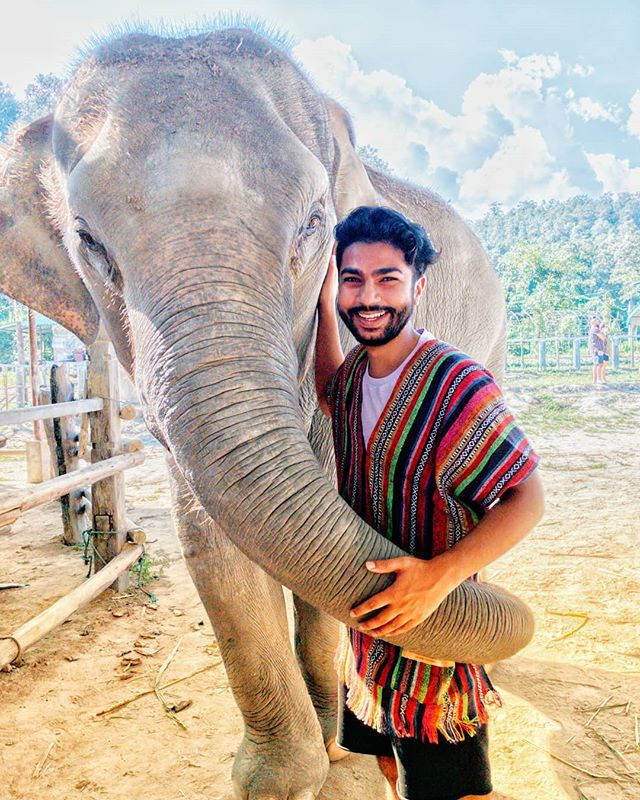 This dude was ultra friendly. . . . #elephantsantuary #thailand🇹🇭 #travelthailand #ourlonelyplanet #chiangmaithailand #elephants #animalsanctuary