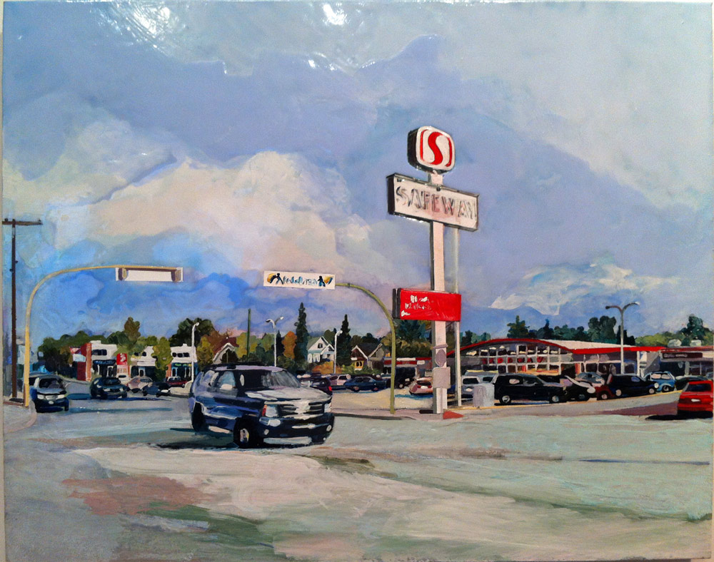 13th Ave. Safeway, Acrylic/Canvas, 2012