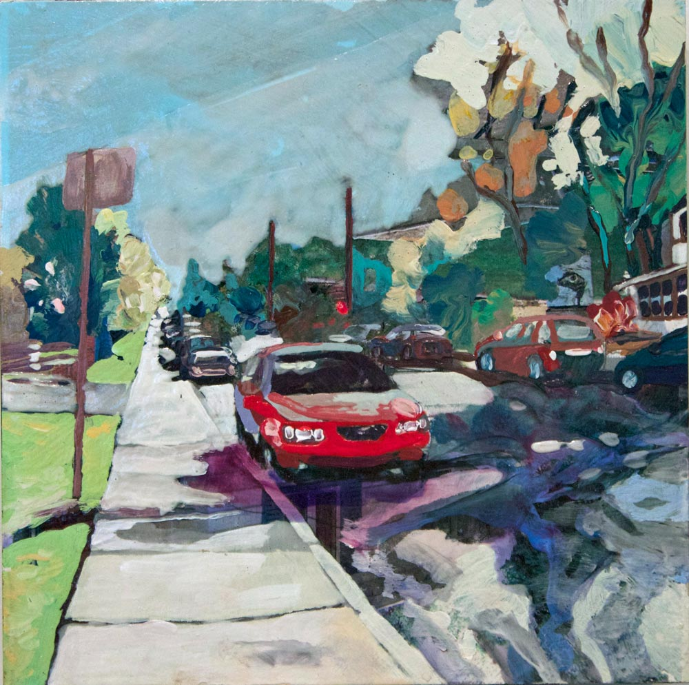 "Intersections Off College, 8"" x 8"", 2011"
