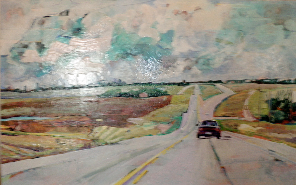 Road Painting, Acrylic/Canvas, 2011