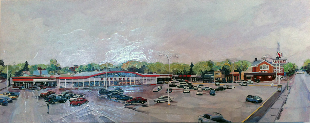 Safeway After Rain, Acrylic/Canvas, 2012
