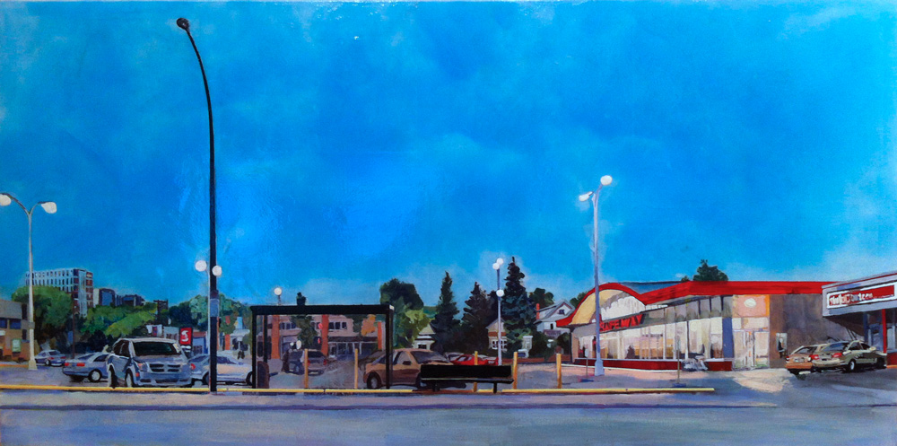 Safeway at Dusk, Acrylic/Canvas, 2012