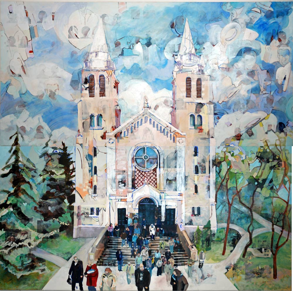 "The Cathedral, 10"" x 10"", Acrylic Digital Transfers Canvas, 2010"