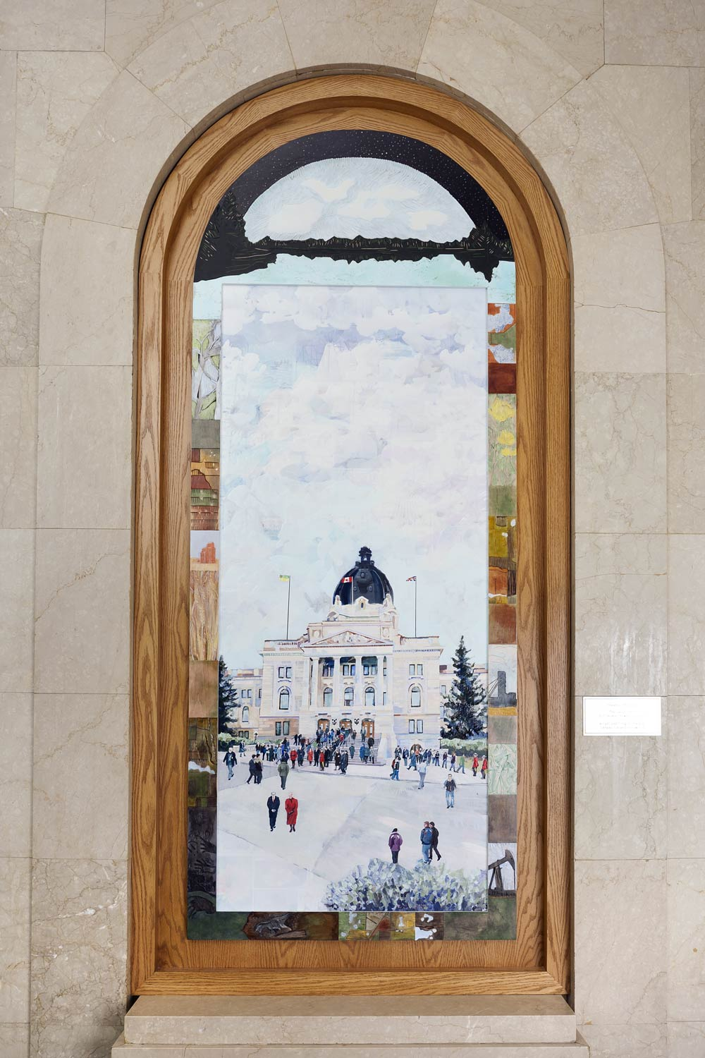 3' x 7' Installed SK Legislature Building
