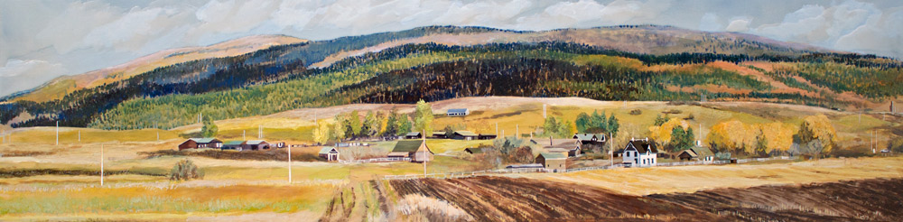 "Anderson Ranch, 12"" x 48"", Acrylic Panel, 2016"