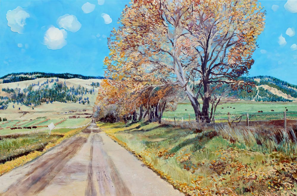 "Backroad Okanagan, 24"" x 36"", Acrylic Panel, 2016"