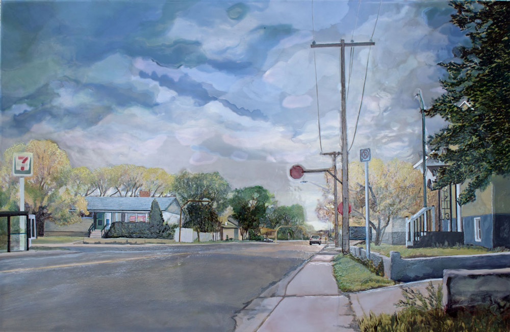 Leaving the Neighbourhood, Acrylic Panel, 2016