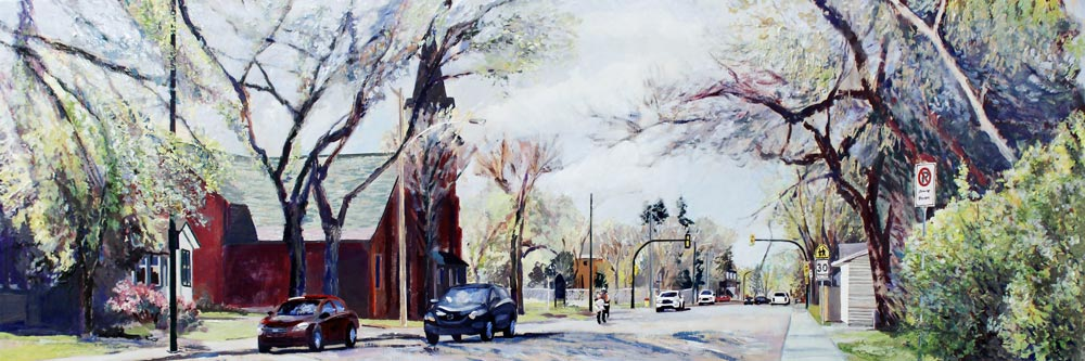 "12 Street, Walk to AP, 12"" x 36"", 2018"