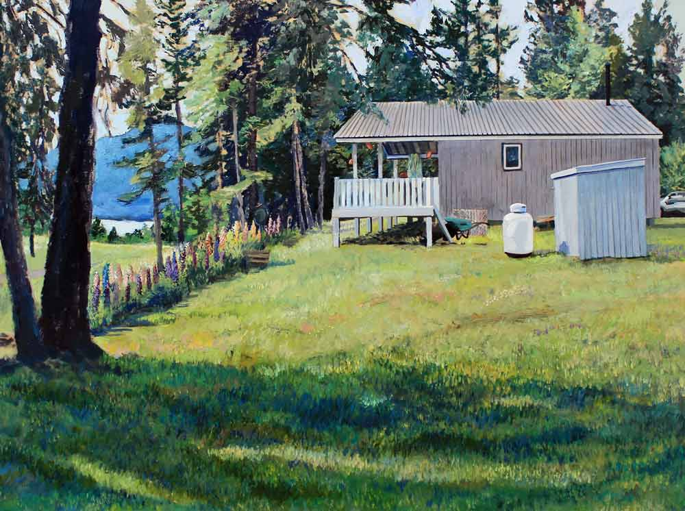"Day 5 Cottage, 18"" x 24"" Acrylic Panel"