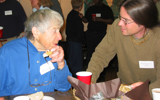 Doris McCarthy and David McEown at cspwc AGM 2003