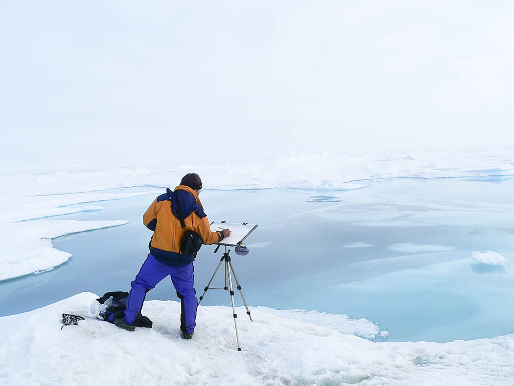 Painting the melting ice at the North Pole