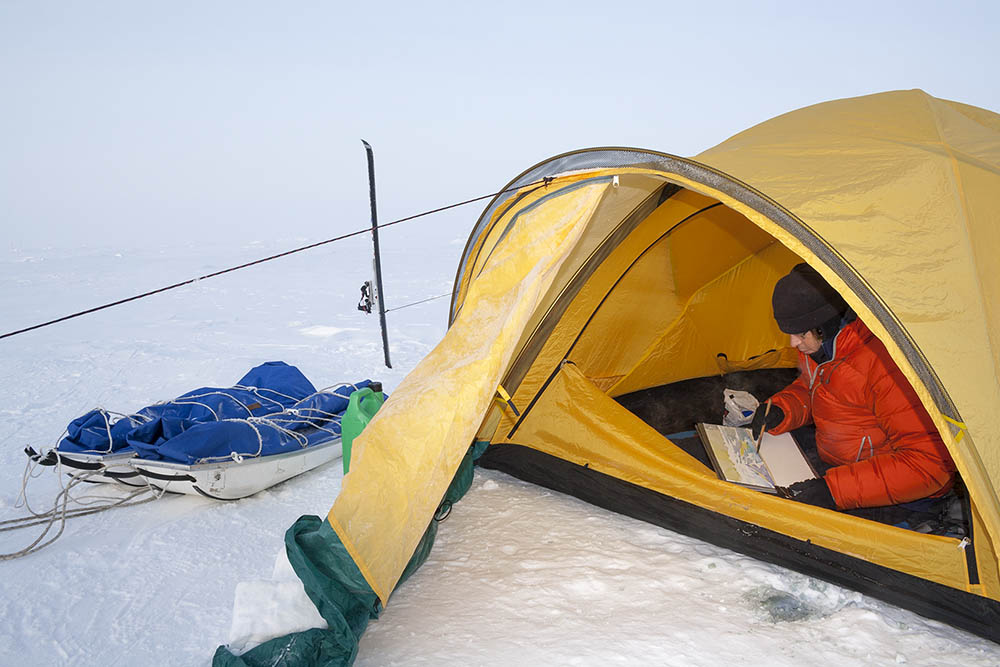 Tent studio -30 degrees , near North Pole!
