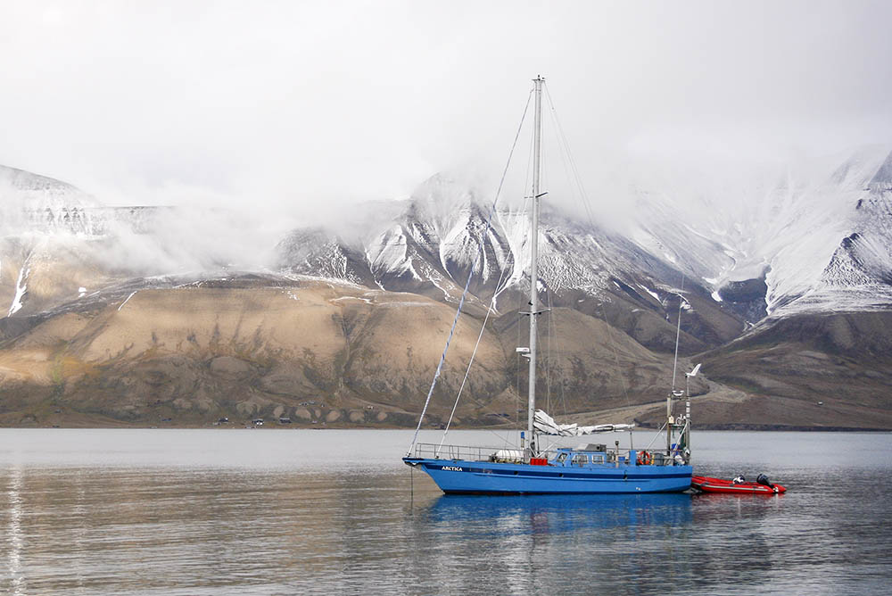 The sail boat Arctica in Svalbard