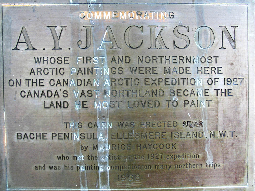 A.Y. Jacson commemorative plaque