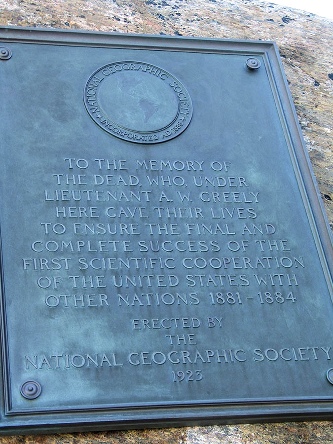 Greely expedition commemorative plaque