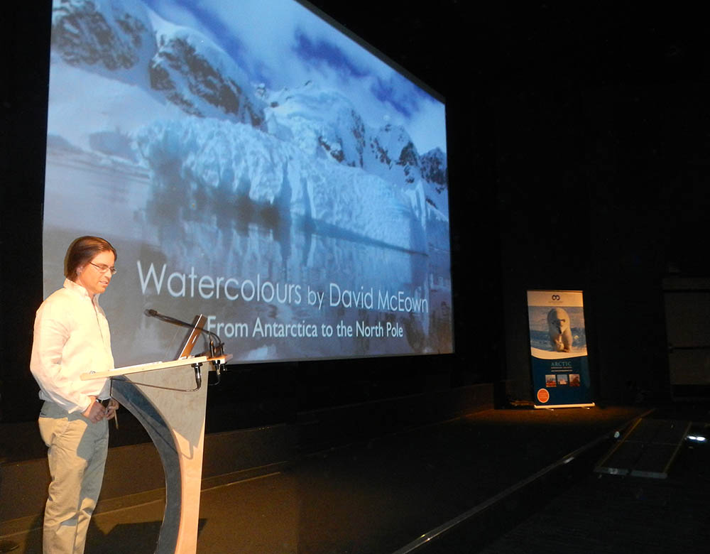 David giving a presentaion at the Vancouver Festival of Ocean fi