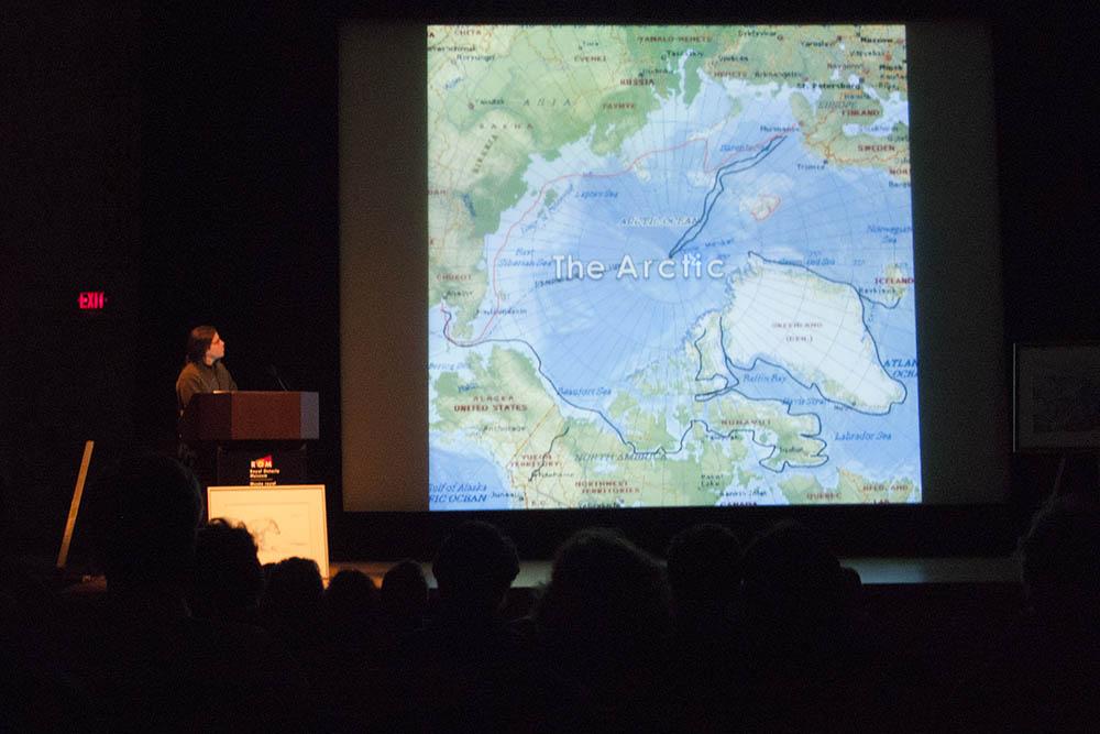 David giving a presentation at the Royal Ontario Museum Signy &