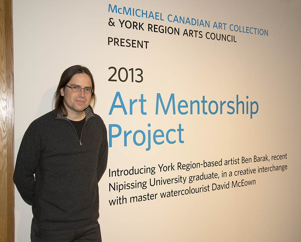 David at the McMichael Canadian Art Collection