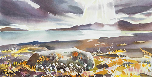 Northwest Passage, 12in. x22in. watercolour