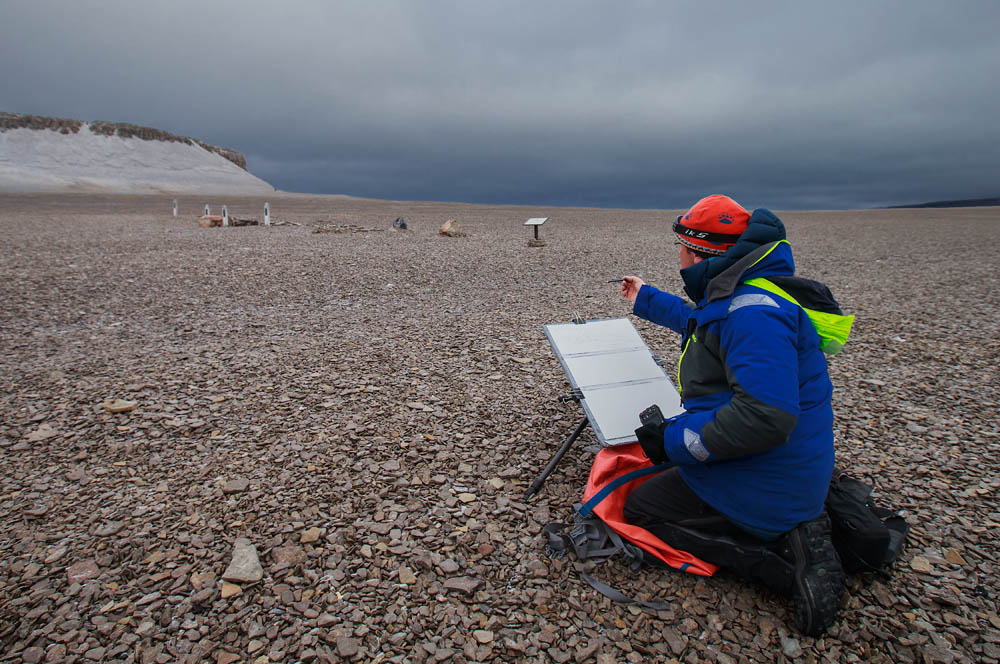 Painting on Beechey island. (photo by Dave Sandford)