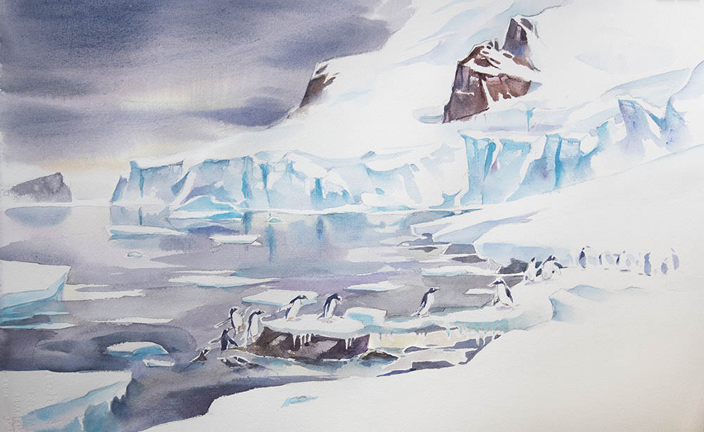 Ice Bridge, From Ronge Island