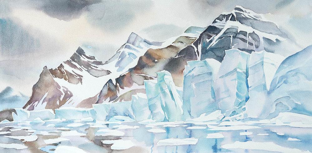 Svea Glacier in Nord Fjord