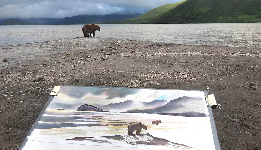 Study of fishing bears.