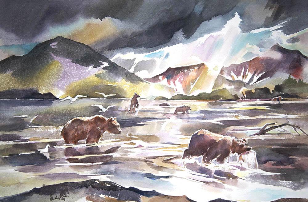 Kamchatcka Brown Bears Fishing