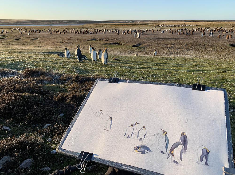 David Painting on location