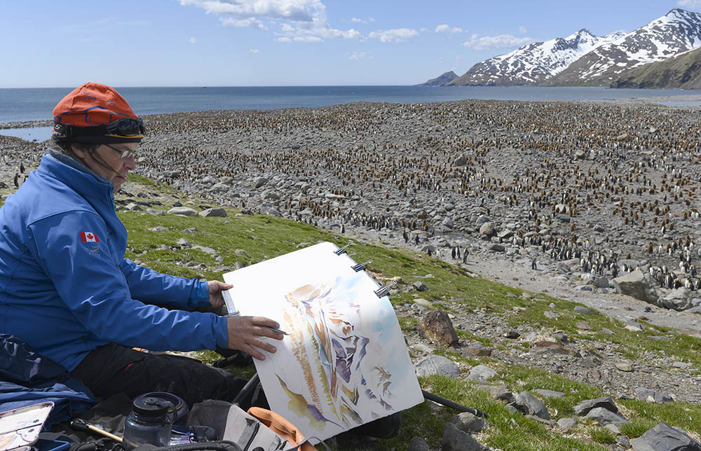 Painting Dyptich on Location