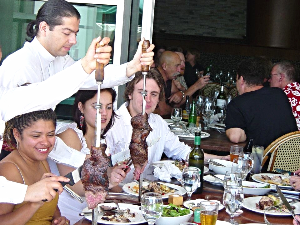 Traditional Churrasco service