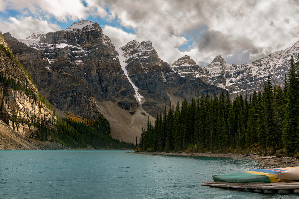 Kayaks on Moraine Lake
