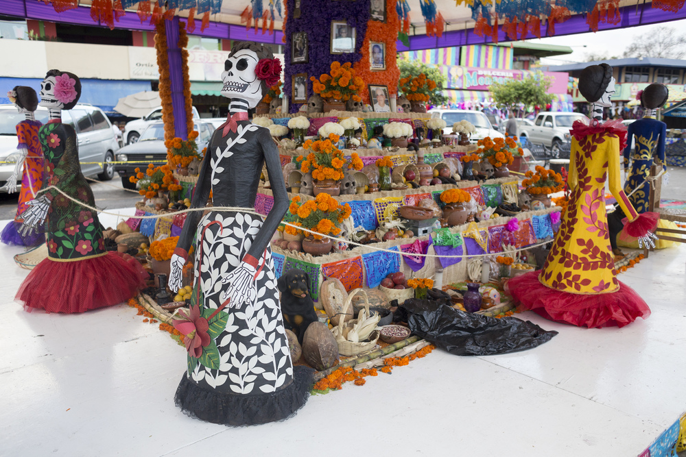 Mercado Hidalgo in the center of Tijuana has a giant altar on Nov. 2, 2015, the second day of celebrations of Dia De Los Muertos. (Elaine Cromie)