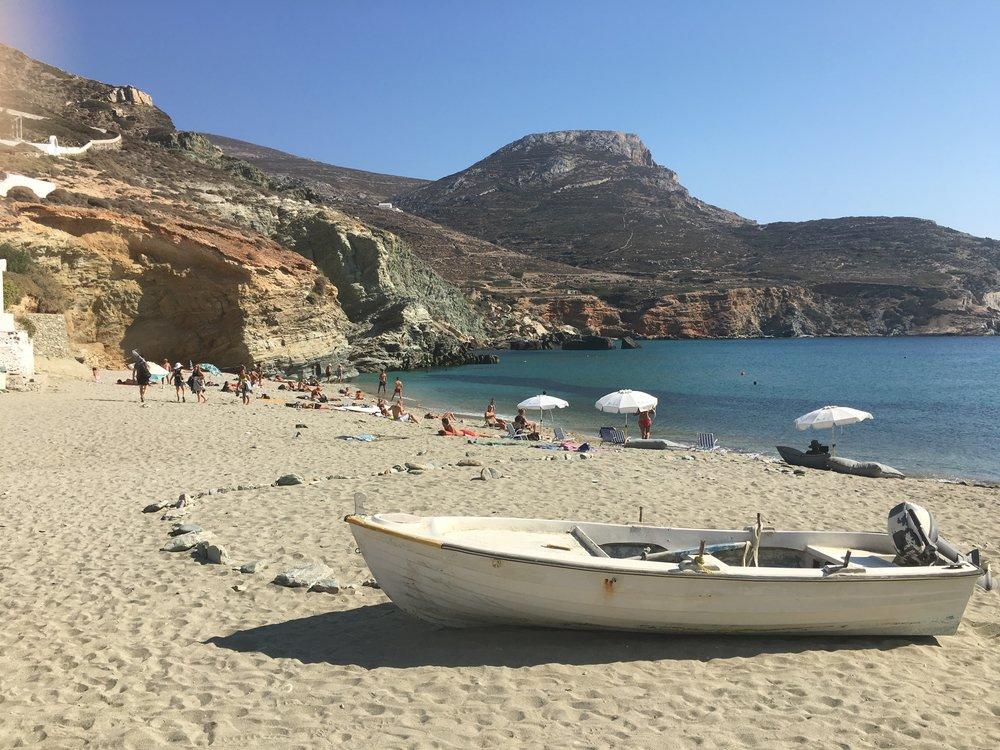 Agios Nikolaos Beach in Folegandros