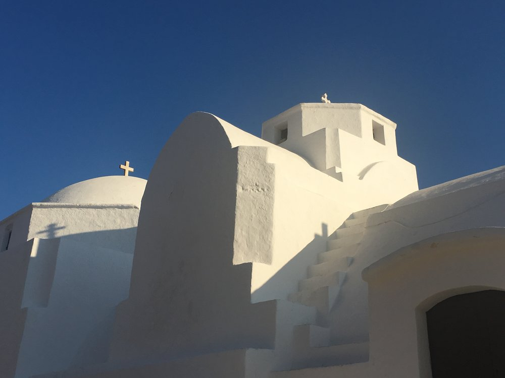Greek church in the Cyclades