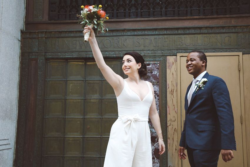 Moments after eloping at City Hall