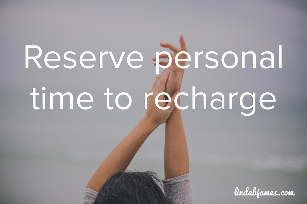 Take time to recharge!