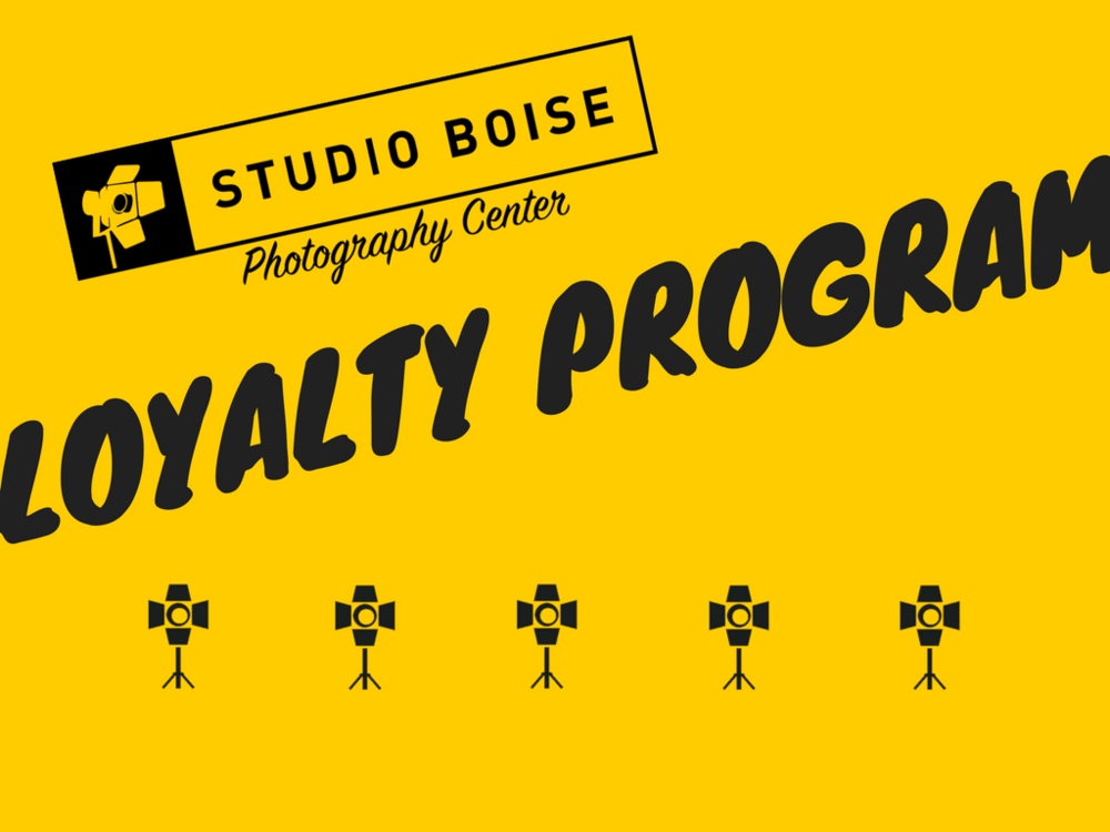 Studio Boise Photography Center Loyalty Program