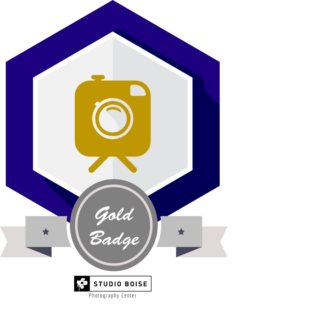 studio boise photography center workshop badge gold education