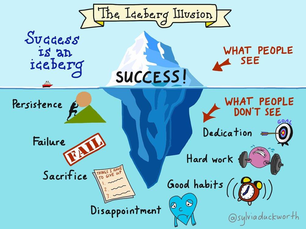 """""""The Iceberg Illusion""""© Sylvia Duckworth (@sylviaduckworth)"""