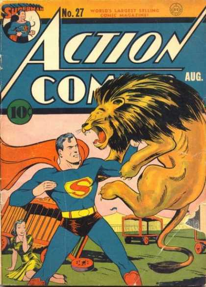 Superman fights Lion!