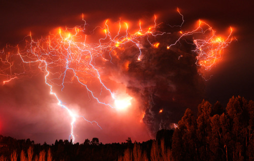 Volcanoes and lightning? Run for you life!