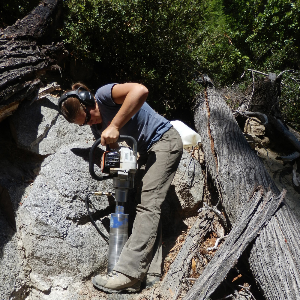 Sometimes you need to turn a chainsaw into a rock drill. For reasons.