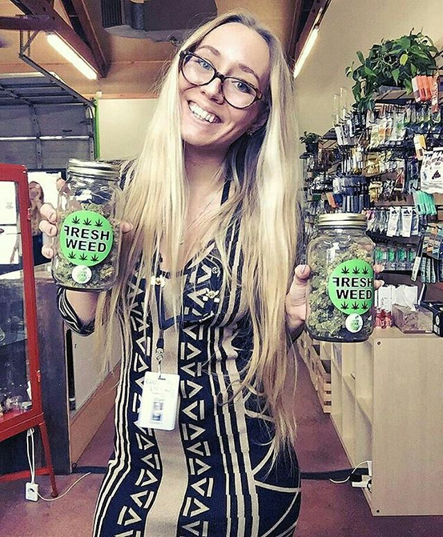 "Shout out to @budtendersofgreenlady: ⠀ ...⠀ ""@freshweed502 has the BEST cookies 💚 sour apple in fact 🍏 🍏🍏🍏🍏🍏🍏🍏🍏🍏🍏⠀ @bunnycakes420 reppin ⠀ #ganjagirls #ganjagoddess #stonerchick  #instaweed #weedstagram #stoner #girlswhosmokeweed #girlswhodab #cannabiscommunity #cannabis #cannabiscuties #kushgoddess #kushqueen #smokeweedeveryday #weedwomen #stonernation #terpqueen #errl #budbunny #710 #budtenderbabes #weedbunny #bunnycakes420 #highlife #highsociety #hightimes #stayhigh #blonde #bongbeauties #dablife *Warning: this product has intoxicating effects and may be habit forming. Smoking is hazardous to your health. There may be risks associated with the consumption of this product. Should not be used by women that are pregnant or breastfeeding. For use only by adults twenty-one and older. Keep out of reach of children. Do not operate a vehicle or machinery under the influence of this drug.*"""
