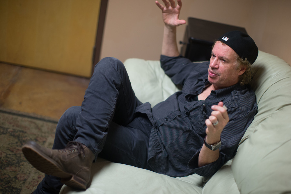 "Jimmy Hall, of Wet Willie, sits in the green room at The Crazy Bull music venue in Macon, Ga. Wet Willie had a song called ""Keep on Smilin,"" which reached the Top 10 on the Billboard Charts in 1974.  They had numerous other hits that reached the top 100 on music charts."