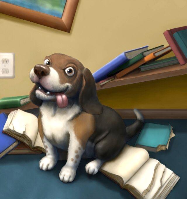 Busy Beagle.JPG