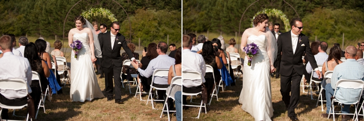 wedding ceremony at cardwell hill cellars in corvallis, oregon