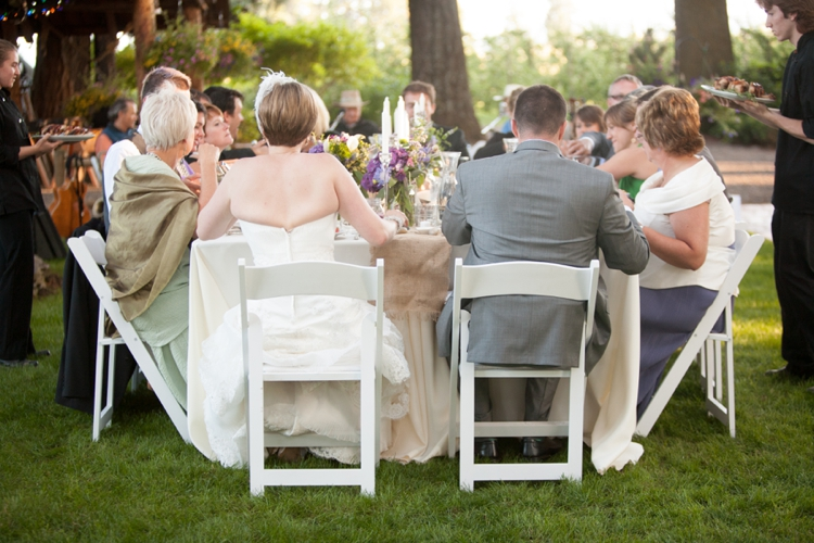wedding reception at miller farm retreat in hood river
