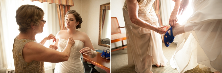 bride getting ready in corvallis, oregon