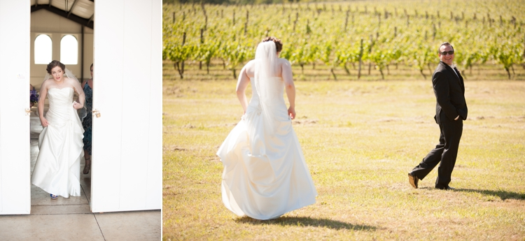 bride and groom at cardwell hill cellars in corvallis, oregon